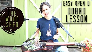 """WOODSHED Easy D Tuning Song on Dobro """"Too Soon"""""""