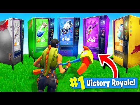 Using *ONLY* VENDING MACHINES To WIN Fortnite: Battle Royale! (Challenge)