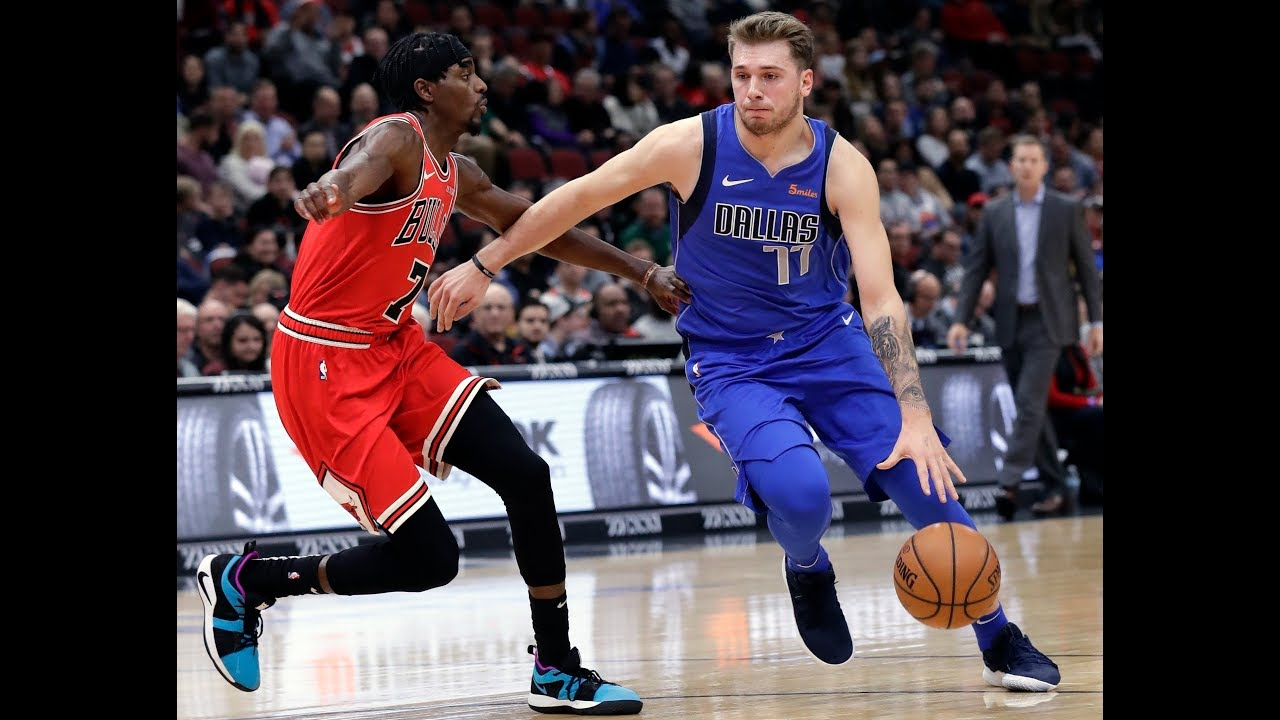 393562606 Luka Doncic Shakes Justin Holiday Twice Before Draining 3-Pointer. Bleacher  Report