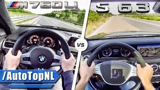 BMW M760Li vs Mercedes S63 AMG ACCELERATION & TOP SPEED AUTOBAHN POV by AutoTopNL