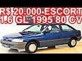 PASTORE R$ 20.000 Ford Escort 1.6 GL 1995 MT5 FWD AP 80 cv #Escort