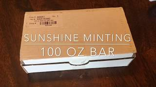 Stacking Silver: 100 oz Sunshine Minting Bar + 4 Bunker Bars
