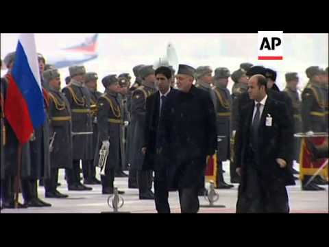 Afghan President Karzai arrives in Moscow on official visit