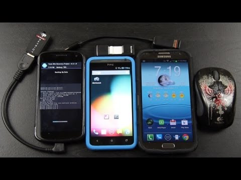 Micro USB OTG on the HTC EVO 4G LTE!