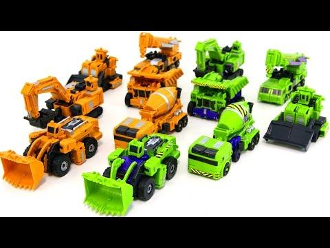 Transformers Construction Green Yellow Colors Devastator KO Hercules Combine Vehicle Robot Car Toys