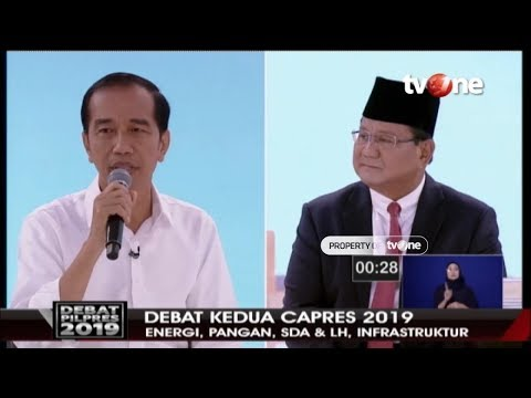 DEBAT SERU! Jokowi Vs Prabowo Soal Infrastruktur   TvOne (17/2/2019)