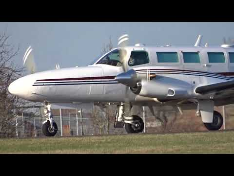 Cessna F406 Caravan ll Close Taxi And Departure At London Southend Airport