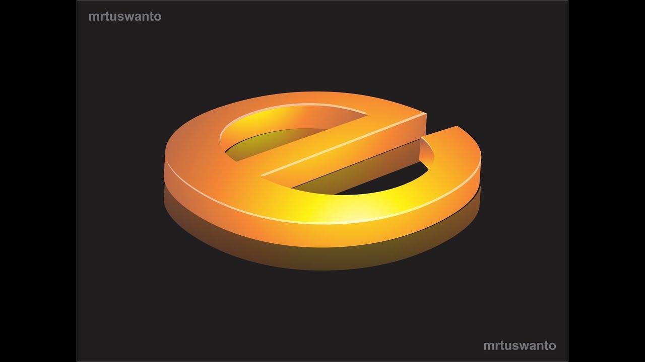 Tutorial Cara Membuat Logo 3D dengan Corel Draw Versi Ke 1 - YouTube