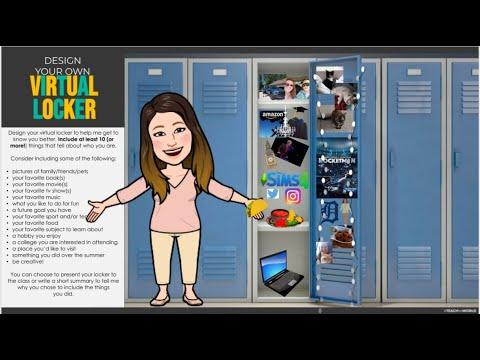 Design Your Own Virtual Locker Youtube