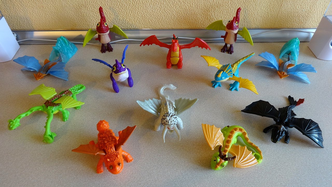 Mcd 2014 How To Train Your Dragon 2 Movie Full Set Happy Meal Toys Collection Youtube