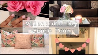 Valentines Day House Tour | Transition to Spring | Glam Farmhouse | Minimal Decor + Vlog #108