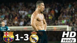 Barcelona vs Real Madrid 1-3 All Goals And Highlights Super Cup 2017