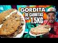 GORDITA DE CHICHARRÓN GIGANTE rellena de 1.5K DE CARNITAS