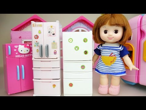Thumbnail: Baby doll and refrigerator food toys play