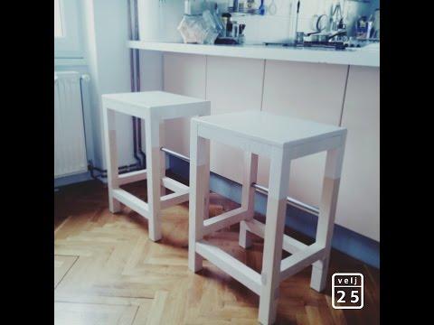 DIY - wooden bar chair - EASY & SIMPLE