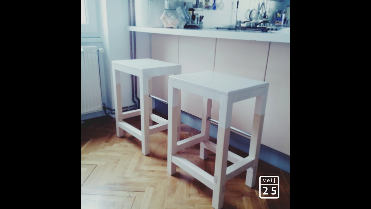 DIY - wooden bar chair - EASY & SIMPLE - YouTube