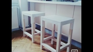 DIY - wooden bar chair - EASY & SIMPLE