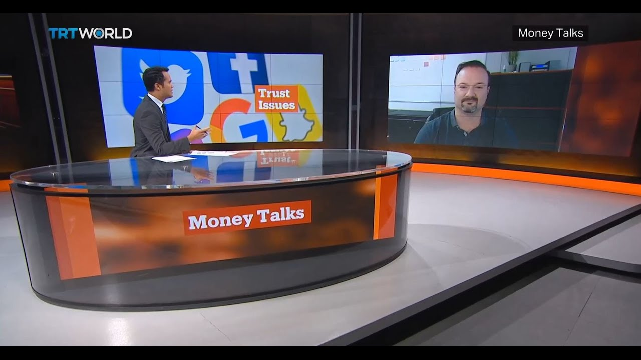 TRT World, Money Talks (Istanbul) live news interview re Section 230 tech CEOs defend Internet laws