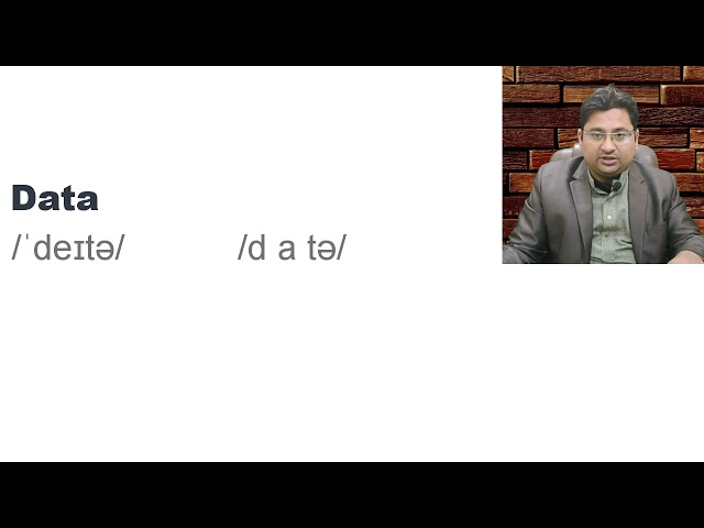 What is the correct Pronunciation of Data