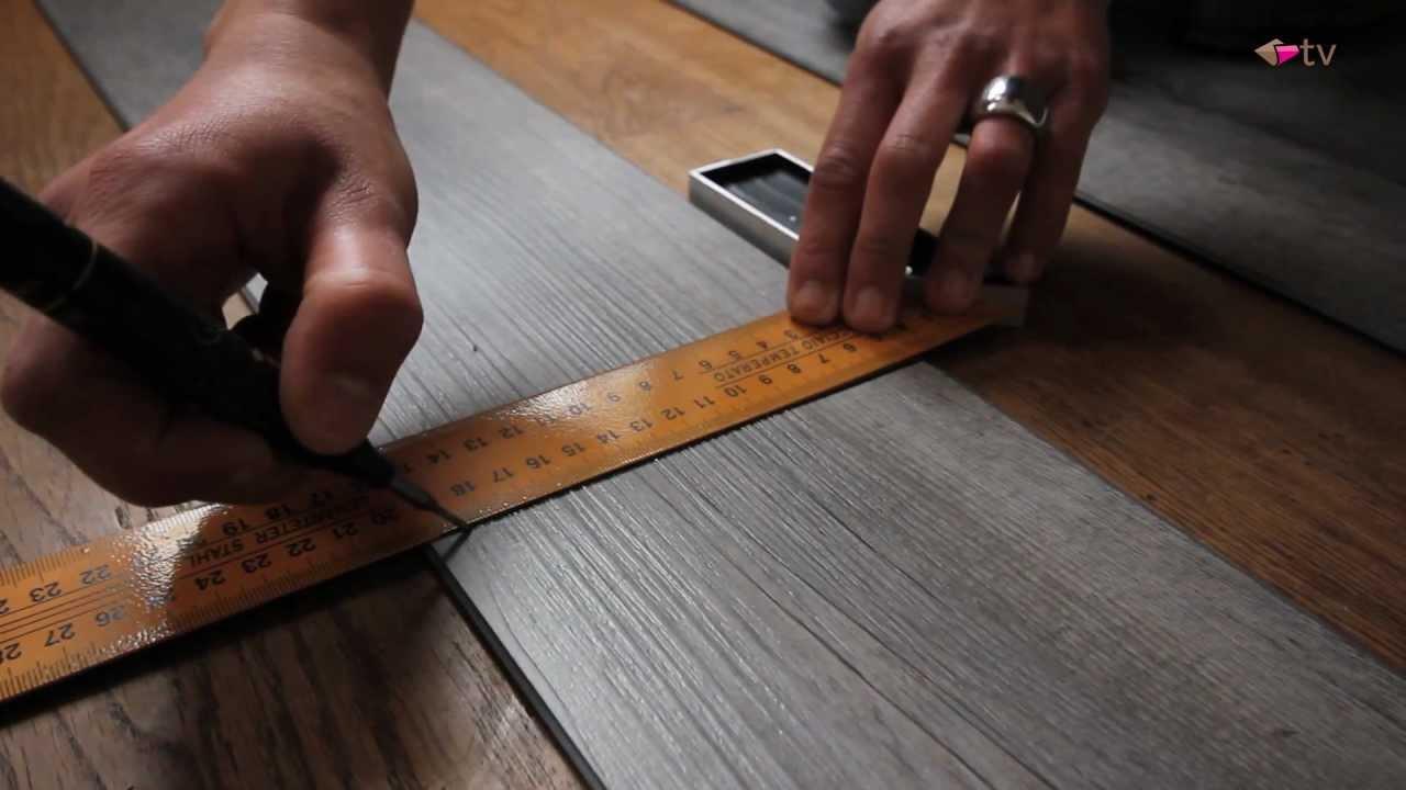 Kunstof Laminaat Vloeren : Klik pvc vloeren leggen handyfloor fix youtube