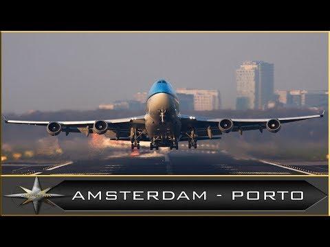 PREPAR3D V4 | B747-400 KLM | AMSTERDAM - PORTO | IVAO