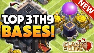 Clash Of Clans - TOP 3 TH9 FARMING BASE 2016!