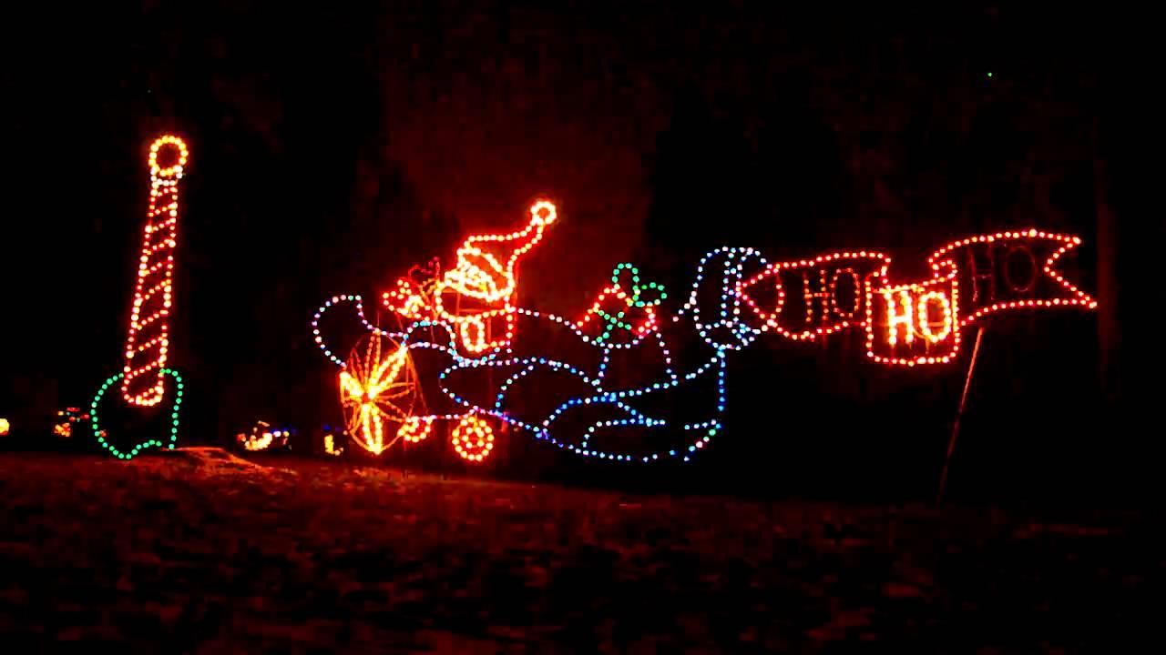 Santa Plane at Fantasy Lights show, Spanaway Park, Washington ...