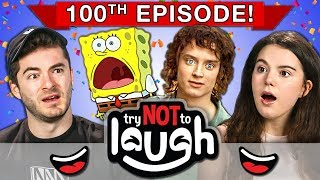 Download Try To Watch This Without Laughing or Grinning   100th Episode (React) Mp3 and Videos