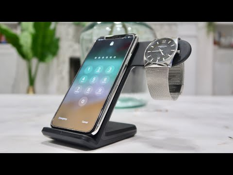 IPhone + IWatch Wireless Charging Dock 2 In 1 - Apple Watch + Samsung Galaxies