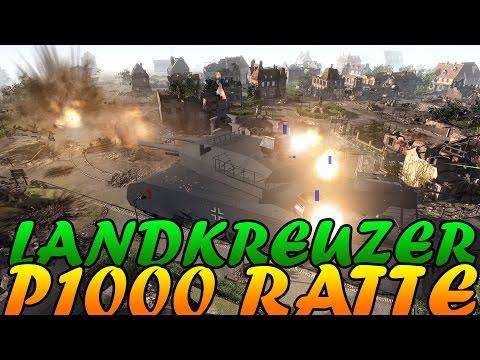 Men of War Assault Squad 2 - Landkreuzer P. 1000 Ratte vs Town vs Nuke - Editor Scenario #26 |