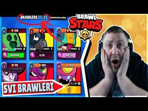 NAPOKON SAM OTKLJUCAO SVE BRAWLERE U BRAWL STARSU!! - Brawl Stars