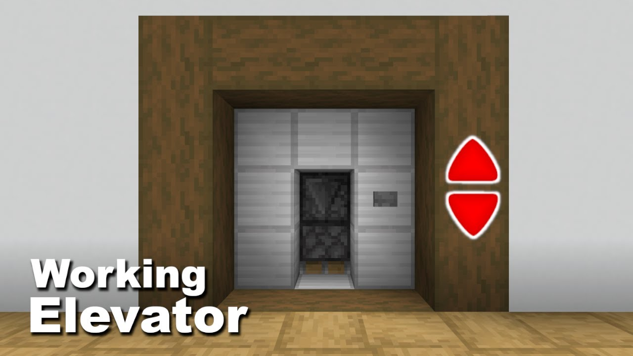 Minecraft: How to make a working Elevator (easy) YouTube