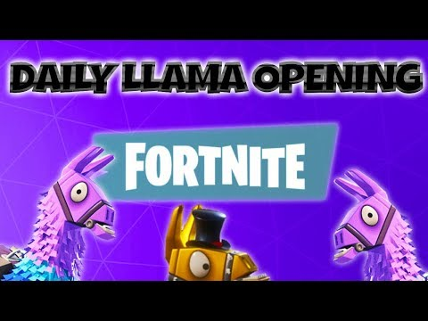 FORTNITE PvE : Daily Llama Opening ~ 50% OFF Sale Ending!  V.5.10 Content Update Coming!