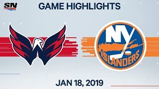 NHL Highlights | Capitals vs Islanders - Jan. 18, 2020
