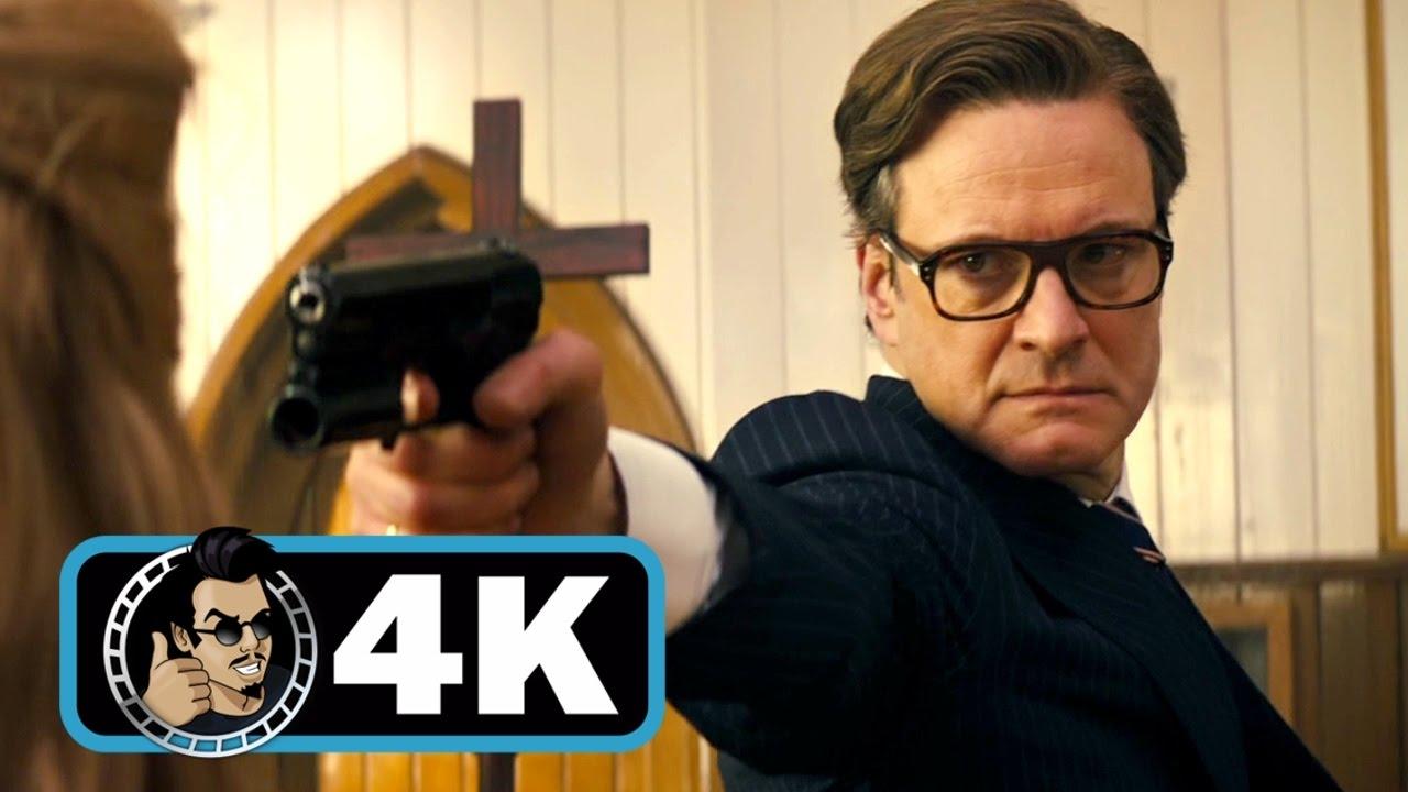 Download KINGSMAN: THE SECRET SERVICE Movie Clip - Church Massacre  4K ULTRA HD  Colin Firth Action 2014