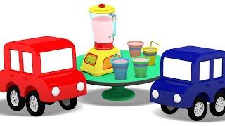 Новые серии 4 машинки и блендер Мультики для малышей про машинки