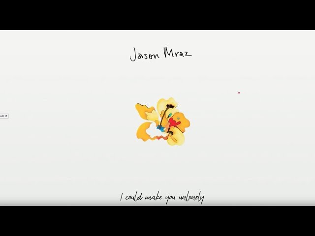 Jason Mraz - Unlonely [Official Lyric Video]