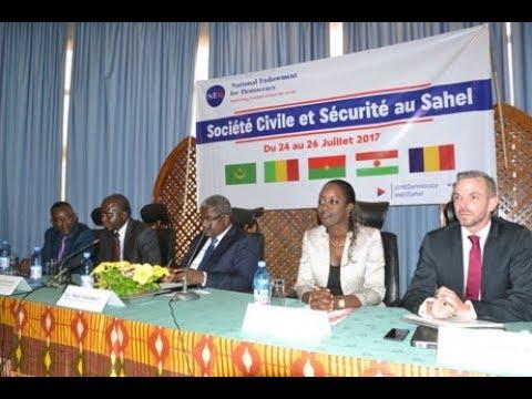 """Conférence """"Société Civile et Sécurité au Sahel"""" - Bamako, Mali (24 - 26 Juillet 2017)"""