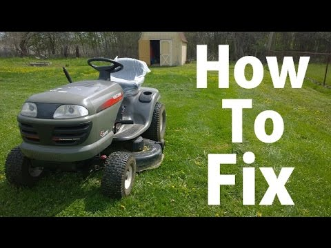 how to troubleshoot craftsman lawn tractor  battery connections and fuses