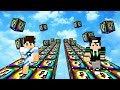 CORRIDA DE LUCKY BLOCK COLORIDA NO MINECRAFT!!