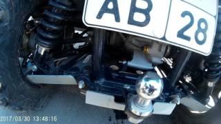 Установка облегченных грузиков в вариатор квадроцикла РМ -650-2