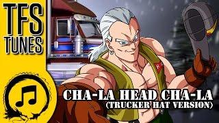 dragon ball z abridged music cha la head cha la trucker hat version