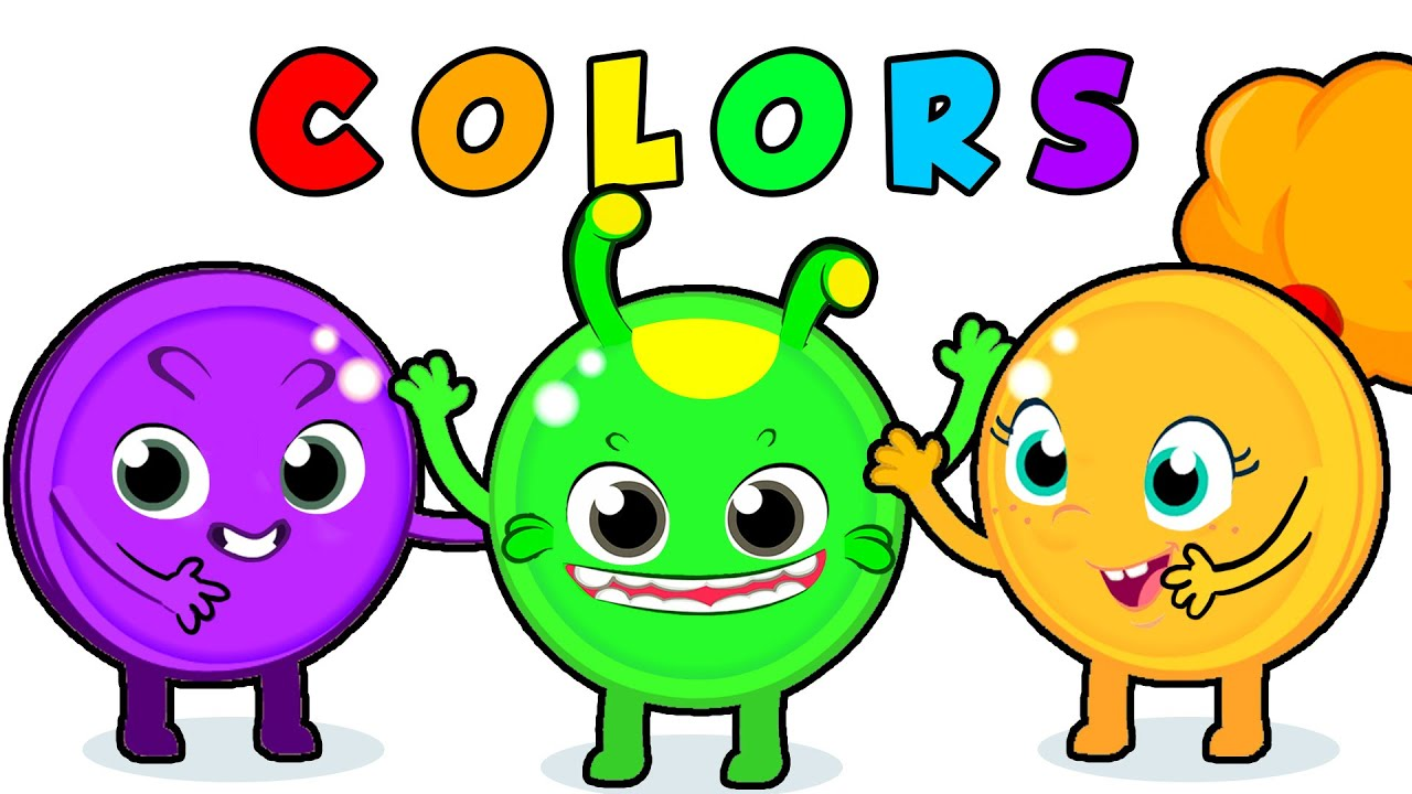 Learn the colors with a funny baby shark REMIX song | Groovy The Martian & Phoebe