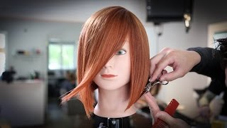 Classic A-Line Bob Haircut Tutorial | MATT BECK VLOG 47