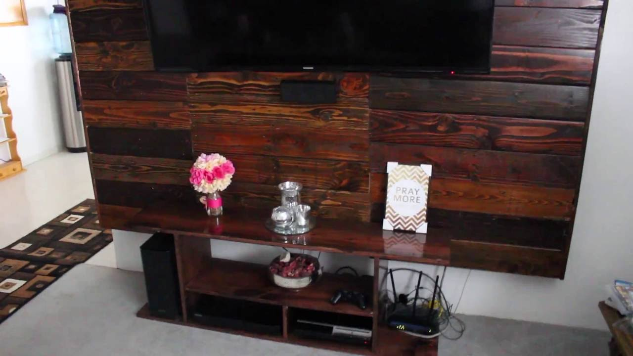Muebles Para Tv De Palets Pared De Pallets Parte 2