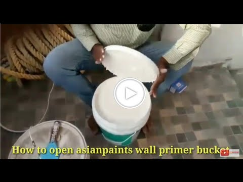 Asianpaints Wall Primer Latest Bucket Opening| Wall Primer Mixing| Painting On Wall.