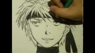 Drawing anime: sketching with charcoal