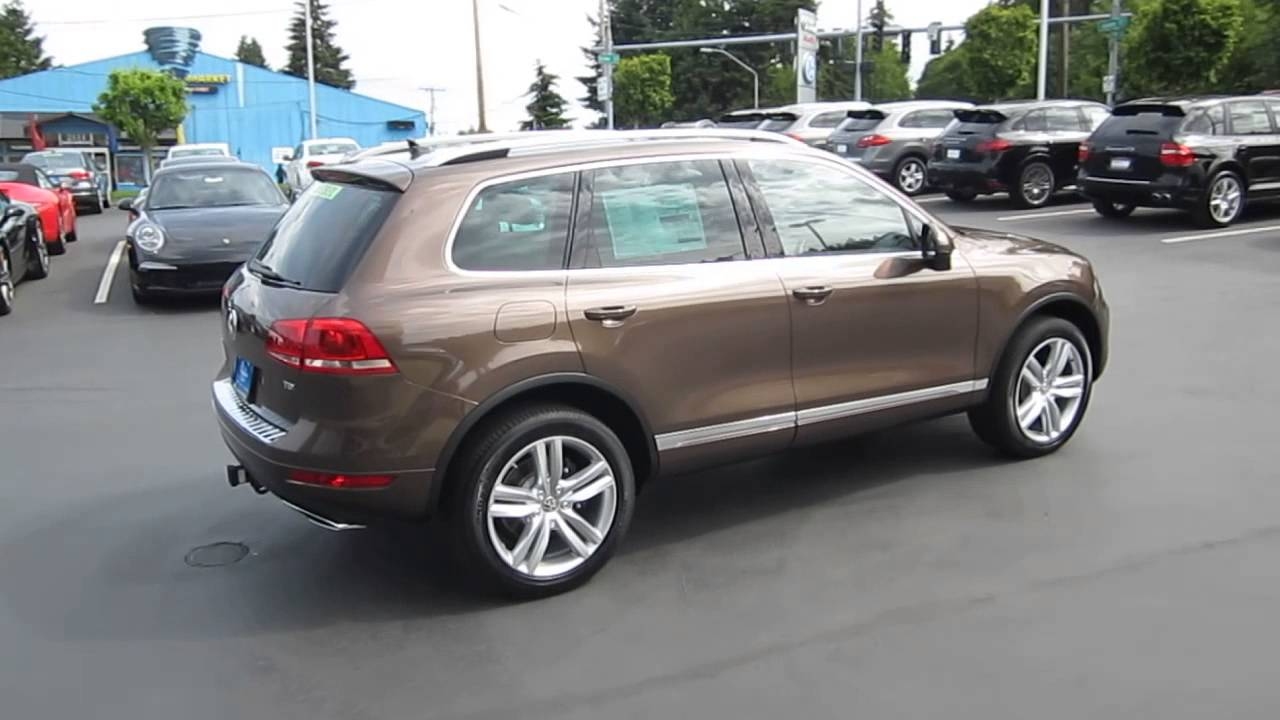 volkswagen touareg toffee brown metallic stock  youtube