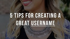 Tips for to Creating a Username