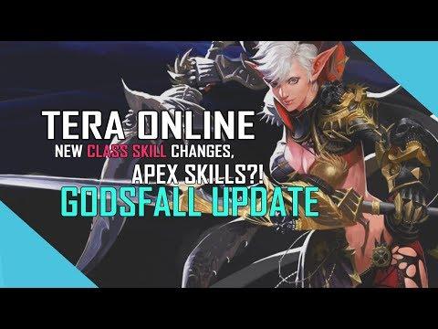 TERA ONLINE - New Class Skill Changes, APEX Skills?! Godsfall Update!